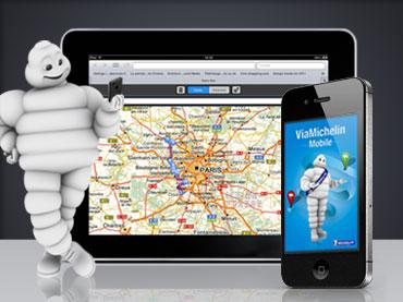 Design de l'interface graphique de l'application mobile iPhone et iPad ViaMichelin