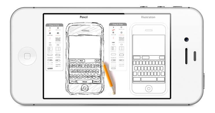 visuel d'un mockup dans un iphone pour illustrer le travail en ergonomie