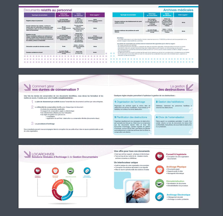 Pages intérieures brochure entreprise Locarchives