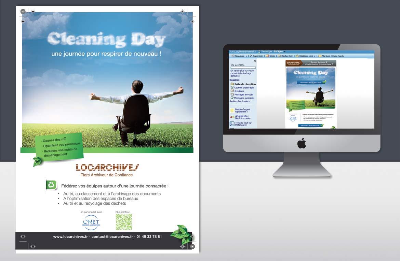 Création d'un encart publicitaire pour Locarchives
