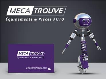 Identité graphique et visuelle société MecaTrouve