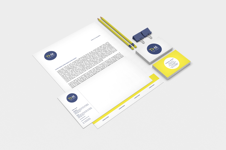 Création de la charte graphique et logo du client ThM