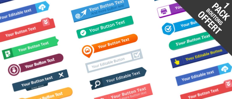 kit de boutons flat-design à télécharger gratuitement