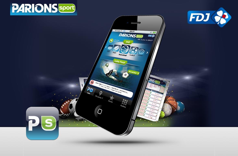 Présentation graphique thématique autour de l'appli mobile ParionsSport