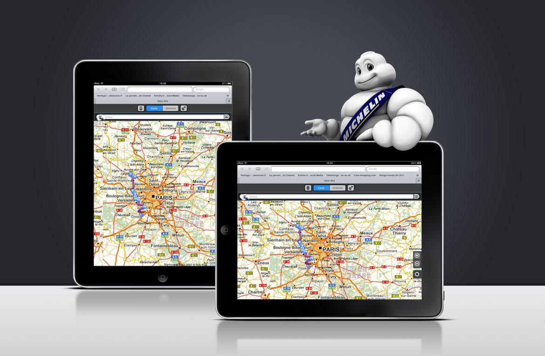 déclinaison de l'interface graphique pour les tablettes iPad.