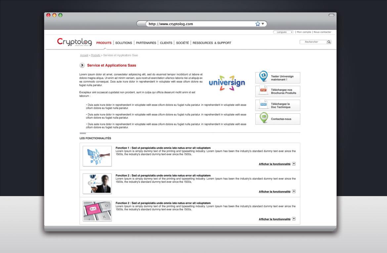 Création d'une page intérieure type du site
