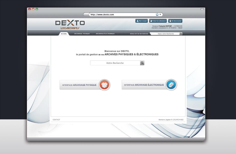 Design de l'écran de recherche d'archives clients