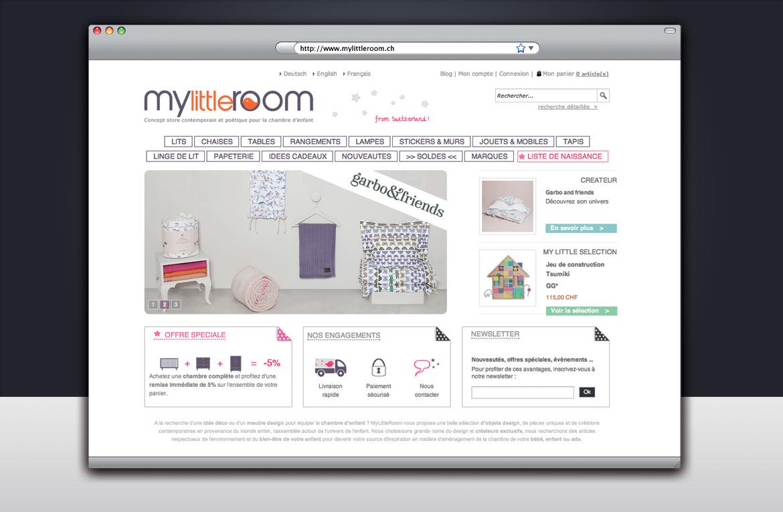 Design et création graphique de la page d'accueil du site
