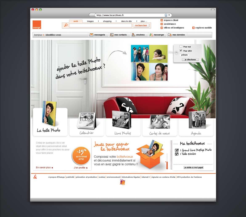 Direction artistique et  conception de concept pour un site évènementiel Orange