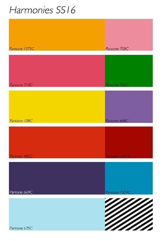 Gamme couleur été 2016 Harmonies SS16