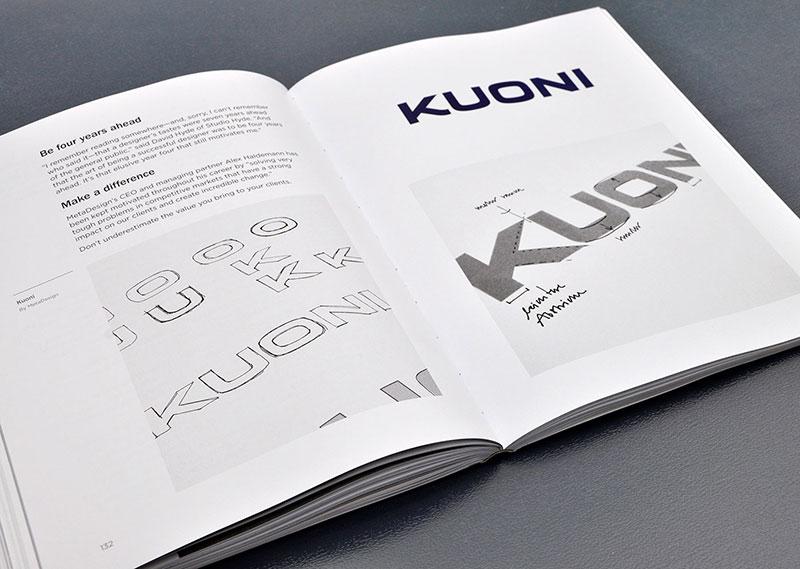 Page intérieure du livre Logo design love
